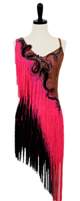 This is a photo of Razzle Dazzle, one of our many Rhythm Latin ballroom dance dresses.