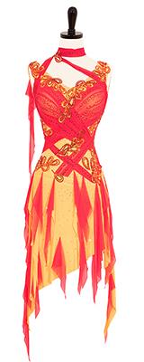 This is a photo of our fiery Rhythm Latin dress by Zdenka Arko.