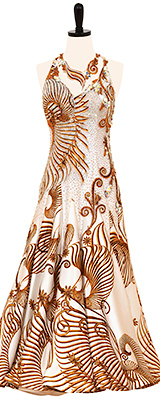 This is a photo of our Designs to Shine Smooth costume, Fractal Universe. A dress that will rock your world!