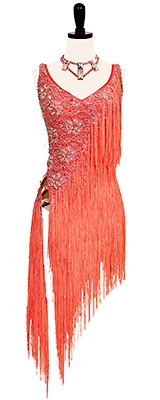 This is a photo of Swimming Upstream. One of our many Rhythm Latin ballroom dance dresses!