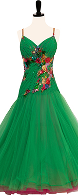 This is a photo of our Danscouture London Smooth Dress, Winner Winner. A stunning emerald green dress!