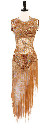This is a photo of our Rhythm Latin ballroom dress Neptune's Folly.